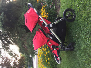 Baby Jogger -City Select Double Stroller - Ruby