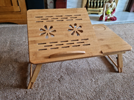 Bamboo laptop table
