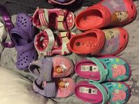Girls shoe bundle. Frozen, peppa size 7-8-9