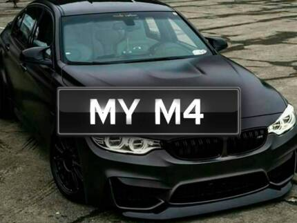 PERSONALISED PLATES  MYM4 FOR BMW