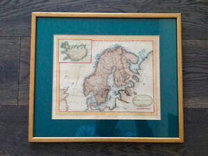 Antique Map of Sweden and Norway