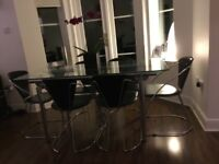 Dining table and 6leather chairs