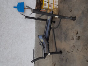Weight bench with leg curl
