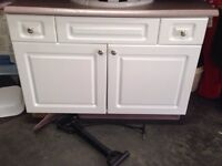 """36"""" white vanity with sink & counter top"""
