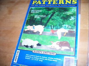 FULL SIZE WOOD PATTERNS, AND FOUR BOOKS