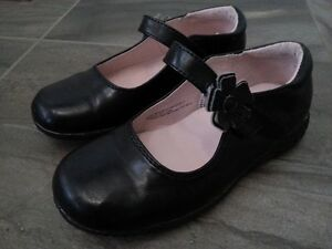 Size 10T Mary Jane Style Black Dress Shoes