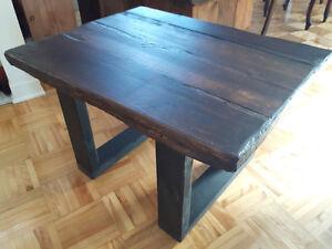TABLES DE SALON EN BOIS DE GRANGE FABRIQUÉES À LA MAIN : 85$