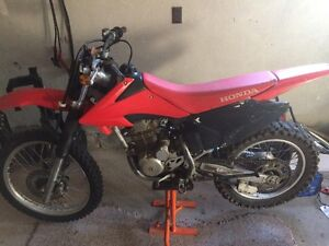 2009 Honda CRF With KTM bike stand