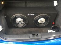 Twin JBL Sub & Amp 1200w each (2400w)