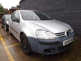 Volkswagen Golf 1.4 ( 80P ) 2008MY S SPARES OR REPAIRS