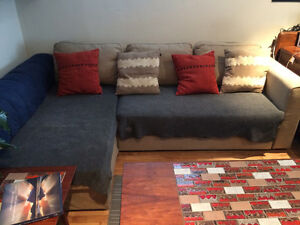 Ikea Manstad Sectional Sofa Bed Couch