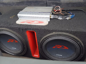 """12"""" subs box and amp"""