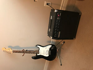 Squier start with 50w Yamaha amp