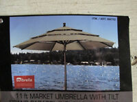 11 ft Market Umbrella with tilt_Sunbrella