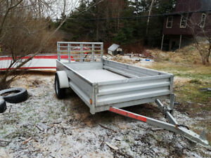 Steel Utility Trailer with back ramp