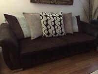 Dfs 4 setter sofa plus matching swivel chair
