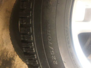 Snow tires on Ford Escape rims Cambridge Kitchener Area image 2