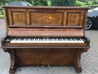 John Brinsmead upright walnut case. Belfast Pianos.