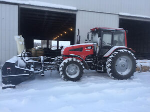 4-wd 125 hp Belarus Tractor with 10' Buhler Front mounted snowbl