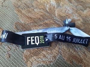 Bracelet pour le reste du festival d'été de Québec FEQ