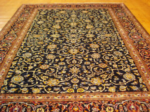 Semi Antique Persian Kashan Hand Knotted Rug, 11 x 7.9 feet