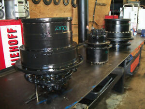 Recently Rebuilt John Deere and Hitachi Excavator Final Drives.