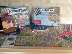 1991 Scotland Yard board game Unpunched by ravensburger.
