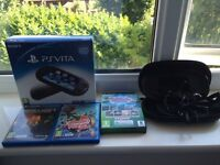 Ps vita,2 games,sports bundle and case