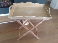 Shabby chic vintage tray table occasional table 60x41cm