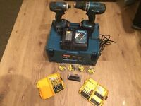 Makita twin pack , 18v 3 amp impact drill and combi