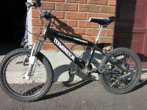 Cool mountain bicycle for boys - Front shocks and 6 gears