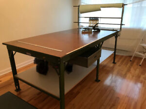 Work table ( cutting/pattern table) with accessories