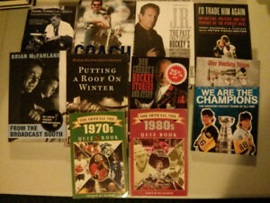 NHL 10 book lot (Don Cherry, Wayne Gretzky, Jeremy Roenick etc)