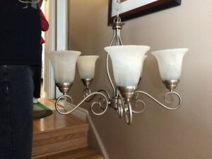 Brushed Nickle 5 Light Chandelier