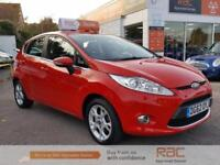 FORD FIESTA ZETEC 16V 2012 Petrol Automatic in Red
