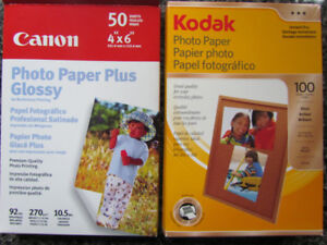Print your own photos with this 4 x 6 Kodak and Canon paper
