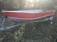 14' boat,motor and trailer