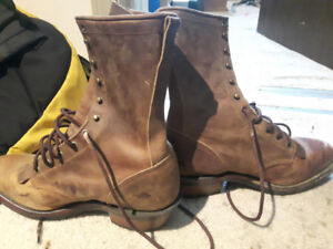 Mens size 10 and a half Boulet packer boots