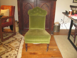 Vintage Velvet Slipper Chair