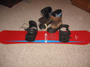 Used Snowboard, boots