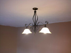 Two Brown Ceiling Lights