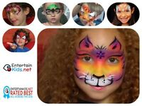 KIDS BIRTHDAY PARTY PACKAGES FACE PAINTING BALLOONS