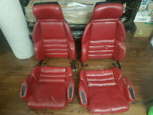 Sièges corvette cuir rouges ZR1 Z51 Sport seats real red leather