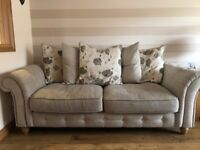 2 and 3 seater cream couch