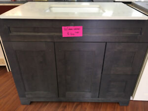 over 50+ demo vanity cabinets CLEARANCE now!!!