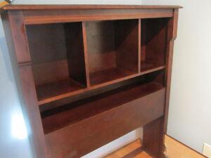single bed frame with book shelf headboard