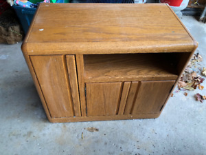 Solid Wood Media table - honey stained