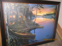 CAMP FIRE CANOE & CANOE at the CABIN by Ervin Molnar