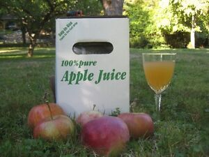 Pressed, organic apple juice for sale