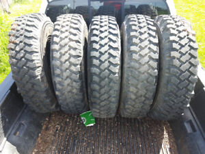 5 good Michelin X tires 34 inch on 6 bolt chev rims. 850$ obo